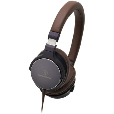 On-Ear High-Resolution Audio Headphones - Navy/Brown