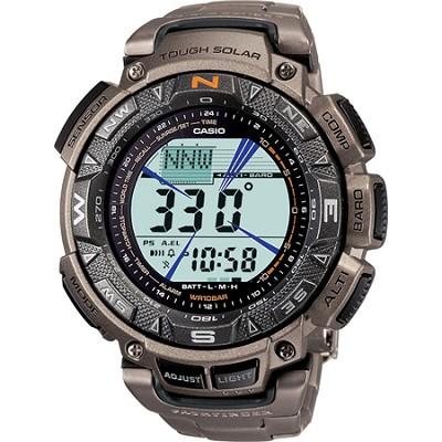 Men's PAG240T-7CR `Pathfinder` Triple-Sensor Multi-Function Titanium Watch