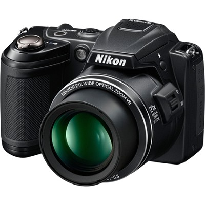 COOLPIX L120 14MP Black Digital Camera w/ 21x Optical Zoom