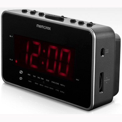 Soothing Sounds Alarm Clock Radio (MC6306BK)