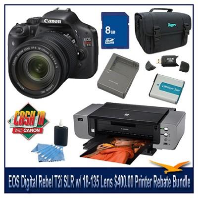 EOS Digital Rebel T2i SLR Camera w/ 18-135 Lens $400.00 Printer Rebate