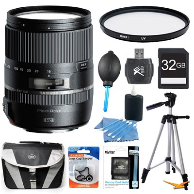 16-300mm f/3.5-6.3 Di II VC PZD MACRO Lens Pro Kit for Nikon Cameras