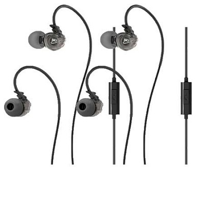 Sport-Fi M3P In-Ear Headphones w/ Memory Wire, Inline Microphone, Remote 2 Pack