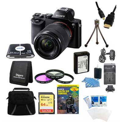 Alpha 7K a7K Digital Camera 64GB SDXC Card Battery Bundle