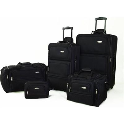 5 Piece Nested Luggage Set (Black) - OPEN BOX