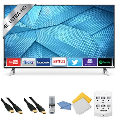 M75-C1 - 75-Inch 4K Ultra HD M-Series LED Smart HDTV + Hookup Kit