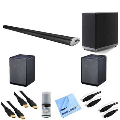 LAS851M- 4.1ch 320w Smart Hi-Fi Wireless Soundbar + 2 NP8340 Wireless Speakers