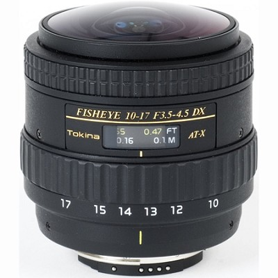 AT-X AF 10-17mm f3.5-4.5 DX Fisheye Lens (No Hood) for Nikon Digital SLR Cameras