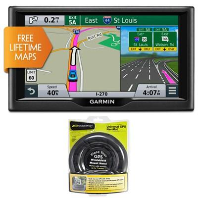 nuvi 67LM 6` Essential Series 2015 GPS Navigation System w Lifetime Maps Bundle