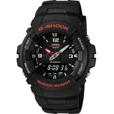 G100-1BV - Mens's G-Shock Ana-Digi Black Watch - OPEN BOX