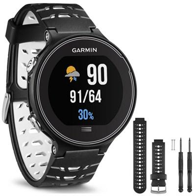 Forerunner 630 GPS Smartwatch - Black and White - Black/White Watch Band Bundle