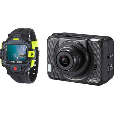 Conquest 2 1080p 60fps/16.0 MP POV Sports Camera w/ WiFi and Color LCD Watch
