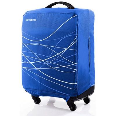 Foldable Luggage Cover, Large - Blue