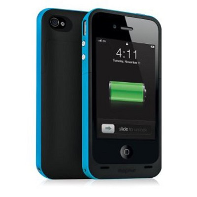 Juice Pack Plus Rechargeable Battery and Case for iPhone4 (Cyan)