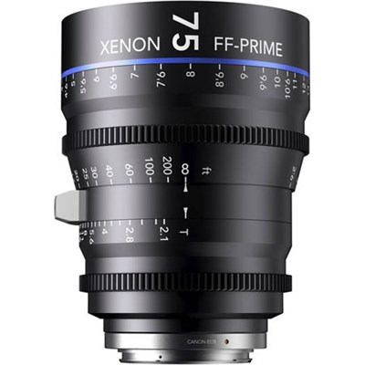 75MM Xenon Full Frame 4K Prime XN 2.1 / 75 Feet Lens for Sony E Mounts