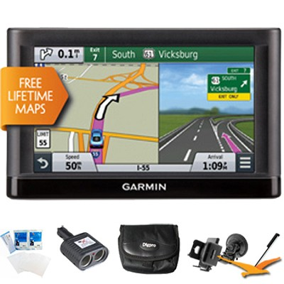 Nuvi 65LM Essential Series GPS Nav w/ Lifetime Maps 6` Display Ultimate Bundle