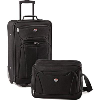 Fieldbrook II Two-Piece Luggage Set (Black)