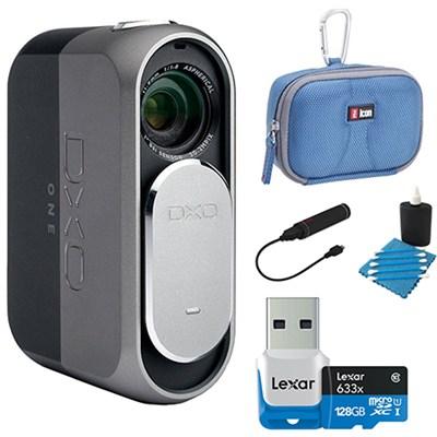 ONE 20.2MP Digital Connected Camera for iPhone, iPad + 128GB Lexar Memory Bundle