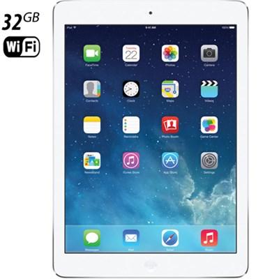 iPad Air MF529LL/A (32GB, Wi-Fi + AT&T, White w Silver) - Certified Refurbished