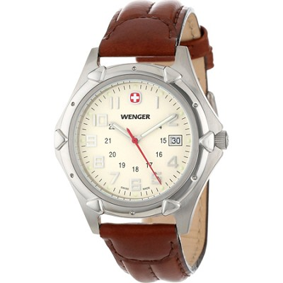 Men's Standard Issue XL Watch - Eggshell Dial/Brown Leather Strap