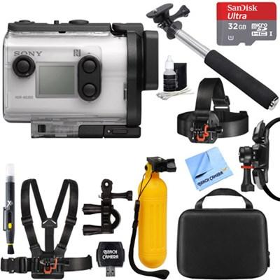 HDR-AS300 HD GPS Action Camera w Wi-Fi Optical SteadyShot + 32GB Mount Kit