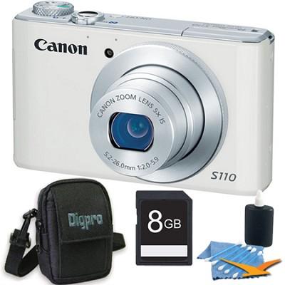 PowerShot S110 White Compact High Performance Camera 8GB Bundle