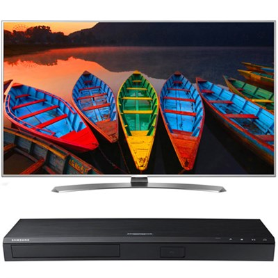 55-in Super UHD TV w/webOS 3.0- 55UH7700+ Samsung UBDM8500 4K UHD Blu-Ray Player