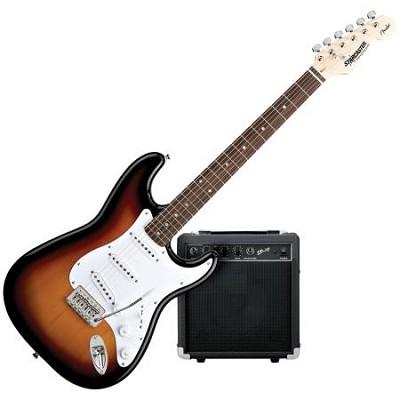 Starcaster Strat Electric Guitar Starter Pack, Sunburst