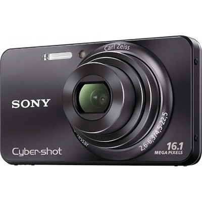 Cyber-shot DSC-W570 16MP Black Digital Camera - OPEN BOX