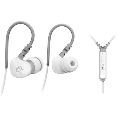 M6P Sports In-Ear Headphones w/ Universal Inline Mic, Remote, & Volume (White)