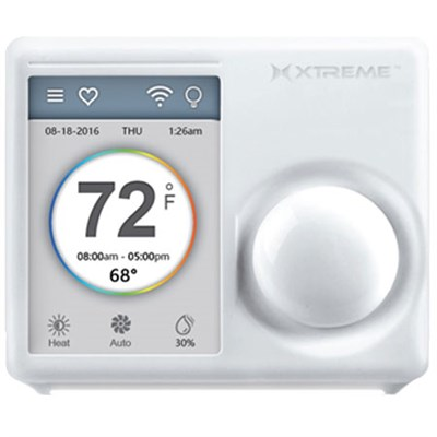 Connected Home 3.5` WiFi Touchscreen Smart Thermostat With Free Phone  App