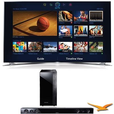 UN46F8000 46` 1080p 240hz 3D Ultra Slim LED WiFi Smart HDTV Sound Bar Bundle