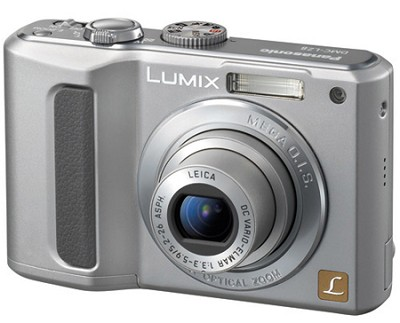 DMC-LZ8 (Silver)Lumix 8MPDigital Cameraw/5x Optical Zoom & 2.5` LCD-Refurbished