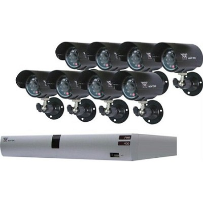 O-885 8 Channel H.264 DVR Kit with 8 Cameras and 500GB Hard Drive