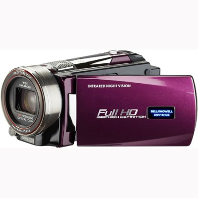 Full 1080p HD 16 MP Infrared Night Vision Camcorder - Maroon (DNV16HDZ-M)