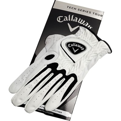Tech Series Synthetic Leather Cadet Tour White Golf Gloves - X-Large 5310033