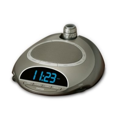 SoundSpa AM/FM Clock Radio with Time Projection