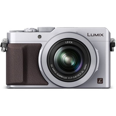 LUMIX LX100 Integrated Leica DC Lens Silver Camera with Advanced Controls