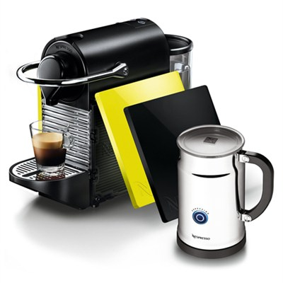 Pixie C60 Clips Espresso Machine and Aeroccino Plus Milk Frother Bundle