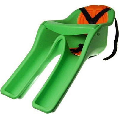 Safe-T-Seat w/ New Padded Front-Mounted Child Bicycle Seat   Green - OPEN BOX