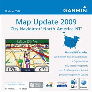 Map Update 2009 City Navigator North America
