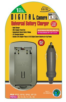 Digital Concepts AC/DC Battery Charger for Fuji and Pentax Lithium Batteries