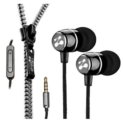FRESH Noise-Isolating Metal Earbuds with 3-Button Mic/Remote (Black)