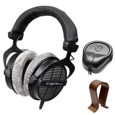 DT-990 250 Ohm Professional Acoustically Open Headphones with Stand Bundle
