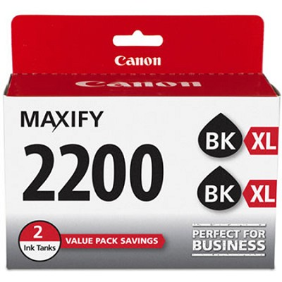 MAXIFY PGI-2200 XL Black Pigment Ink Twin Pack
