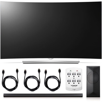 55EG9600 - 55-Inch 2160p 4K Curved 3D OLED + LAS751M 4.1 Channel Soundbar