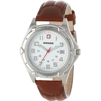 Men's Standard Issue XL Watch - White Dial/Brown Leather Strap