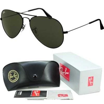 Aviator Classic Metal Sunglasses Black 58mm - OPEN BOX