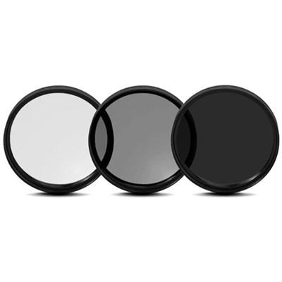 77mm UV, Polarizer & FLD Deluxe Filter kit (set of 3 + carrying case)