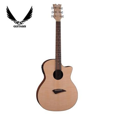 AXS FLAME Acoustic Electric Guitar Gloss Natural Finish with Flame Maple Graphic